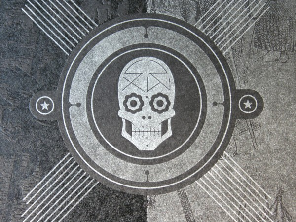 0003 squarespace sxsw letterpress skull silver black 600x4501 90 Incredible Skulltastic Designs and Artworks