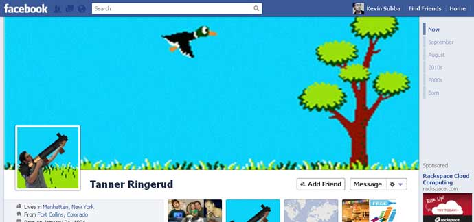 18 unique and creative facebook timeline profile designs 081 40 Creative Examples of Facebook Timeline Designs