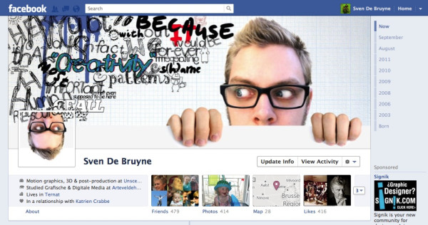 4172312801 40 Creative Examples of Facebook Timeline Designs