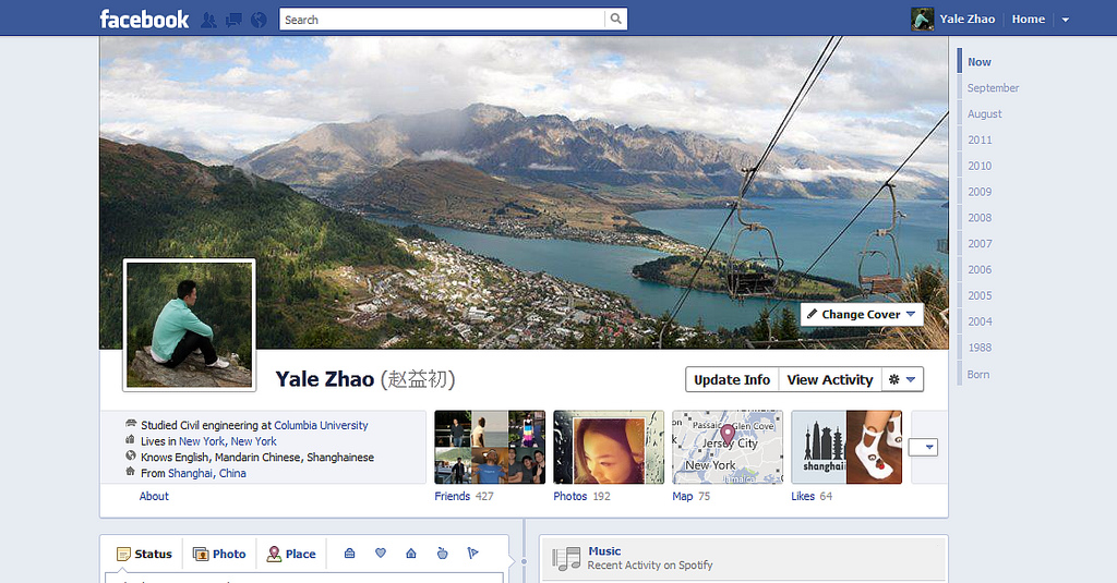 6202780040 2cf6bc7e2a b1 40 Creative Examples of Facebook Timeline Designs
