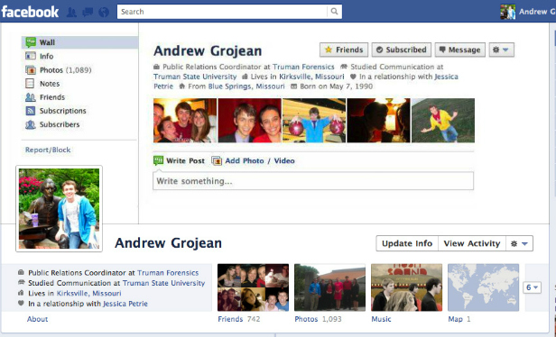 andrew1 40 Creative Examples of Facebook Timeline Designs