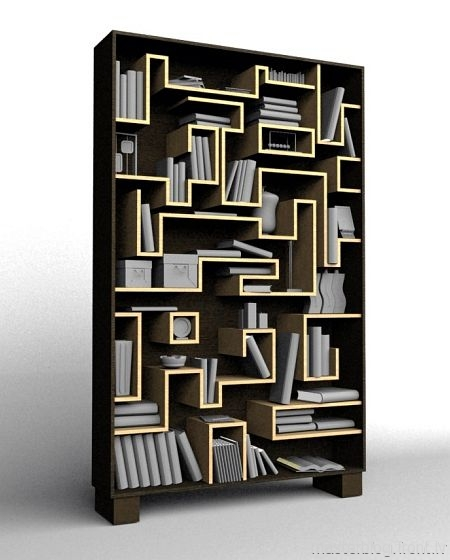 book worm bookshelf by cyrill drummerson1 50 Unique and Unconventional Bookcase Designs