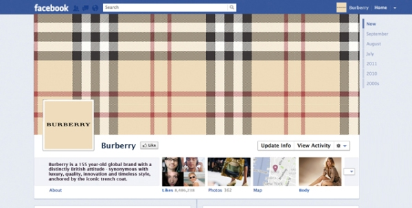burberry 40 Creative Examples of Facebook Timeline Designs