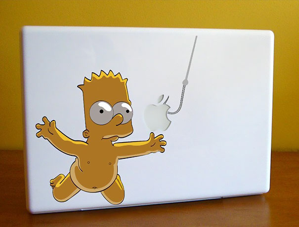 cool macbook stickers bart1 50+ Creative Macbook Pro Decals From Etsy