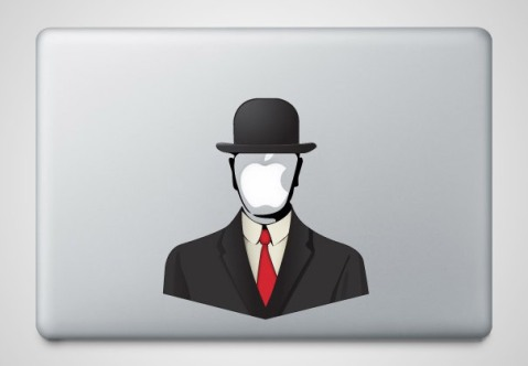 cool macbook stickers son of man1 50+ Creative Macbook Pro Decals From Etsy