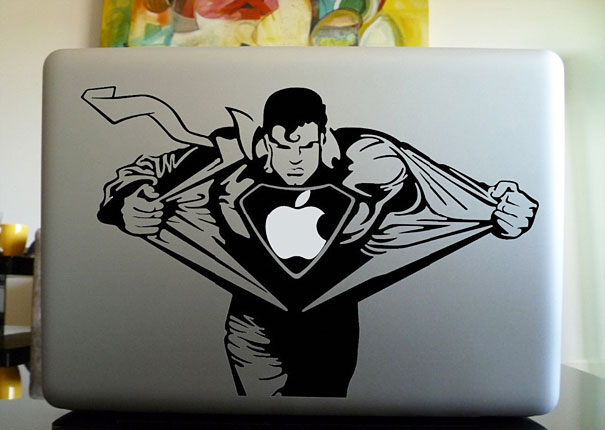 cool macbook stickers superman1 50+ Creative Macbook Pro Decals From Etsy