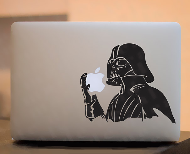 cool macbook stickers vader1 50+ Creative Macbook Pro Decals From Etsy