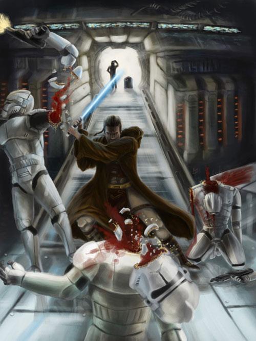 dark jedi by maestro 211 60 Impressive Star Wars Illustrations and Artworks