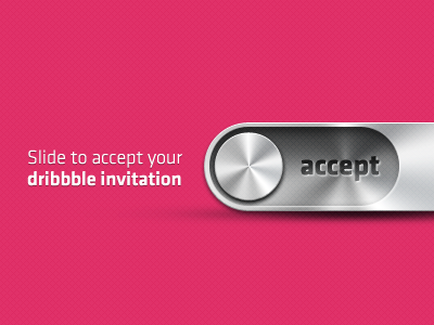 dribble slide1 50 Graceful Invite Shots From Dribbble