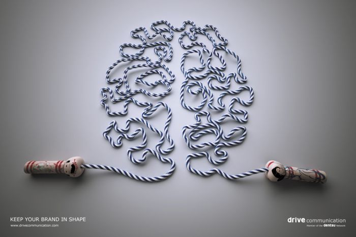 drive communication brain fitness1 35 Creative Fitness Ads To Encourage You