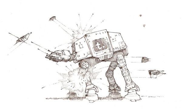 f07ca373c903d009fa479bca956361c21 60 Impressive Star Wars Illustrations and Artworks
