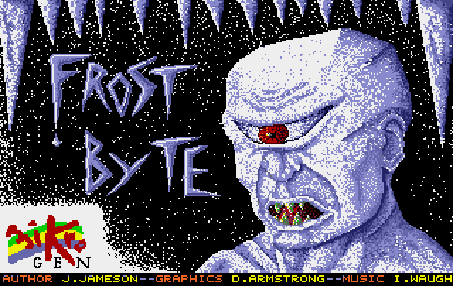 frostbyte full1 60 Inspirational Title Graphics of 16/8 bit Games