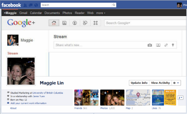 google1 40 Creative Examples of Facebook Timeline Designs
