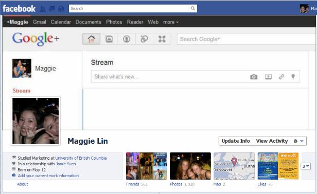 google1 40 Creative Examples of Facebook Timeline Designs