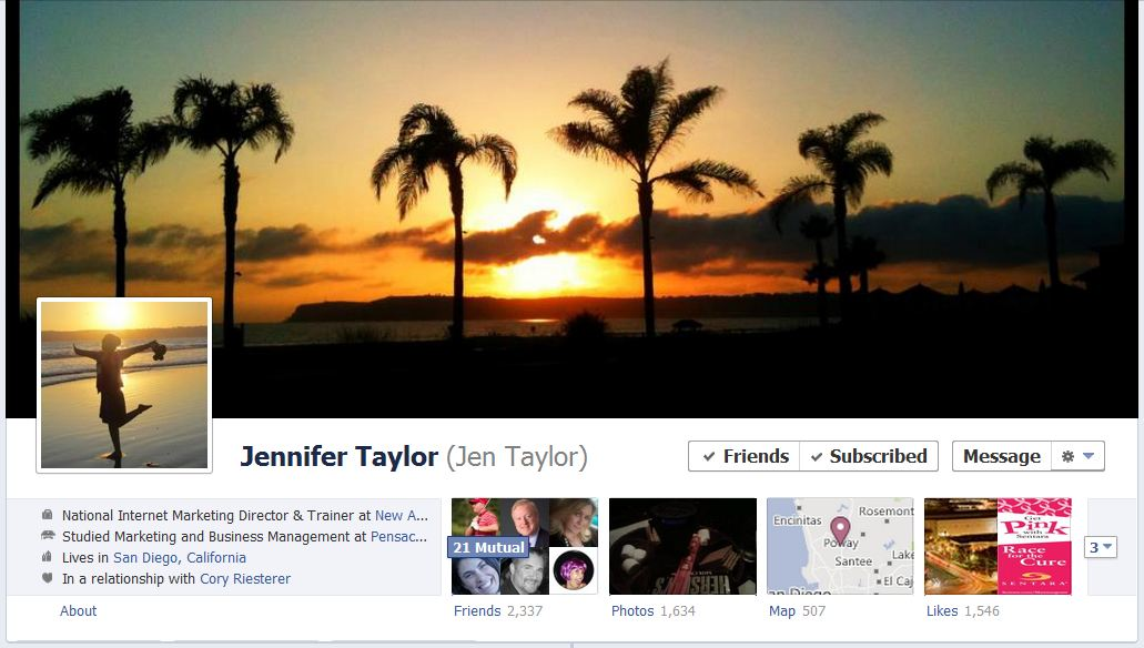jen facebook1 40 Creative Examples of Facebook Timeline Designs