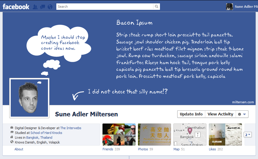 lastone1 40 Creative Examples of Facebook Timeline Designs