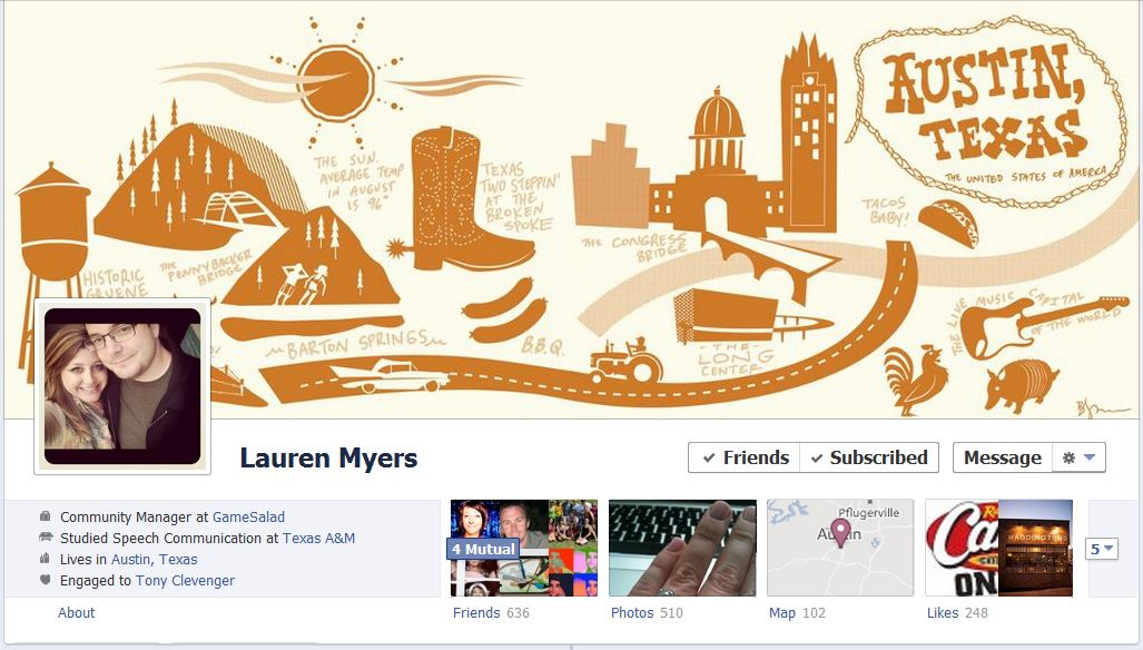 lauren facebook1 40 Creative Examples of Facebook Timeline Designs