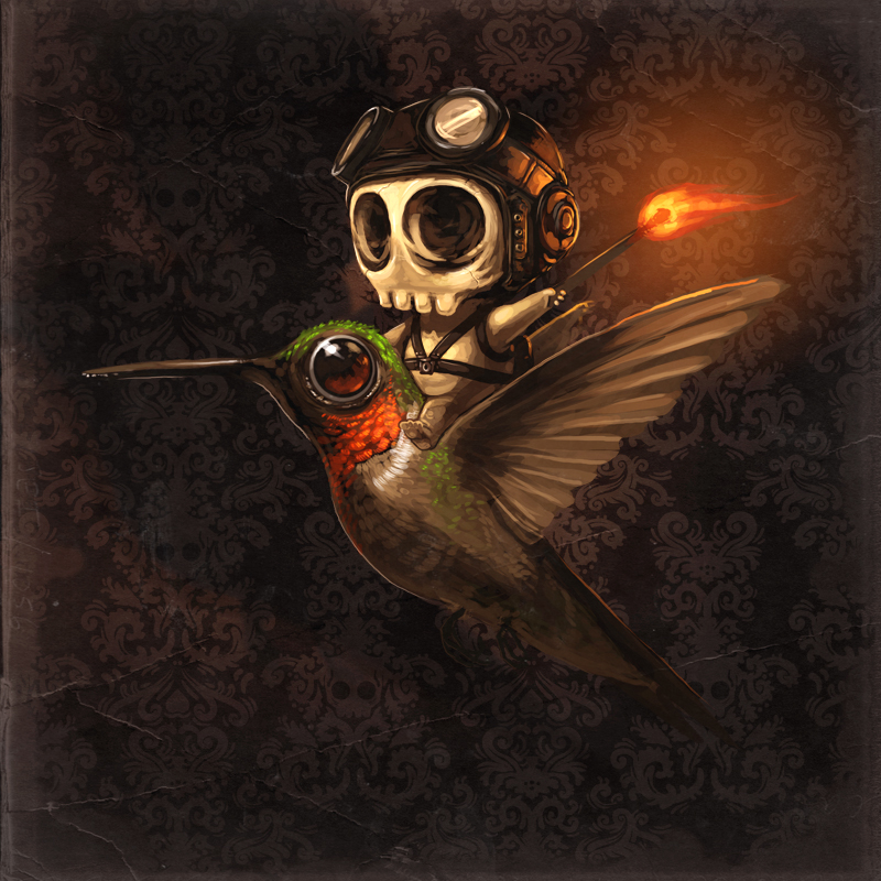 little pilot skullington by mikepmitchell1 90 Incredible Skulltastic Designs and Artworks