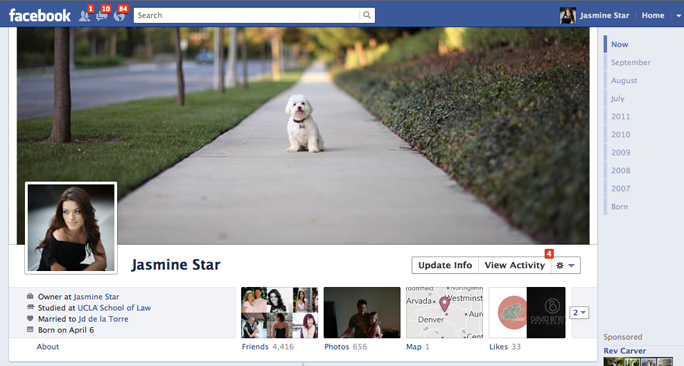 newfacebooktimeline1 40 Creative Examples of Facebook Timeline Designs