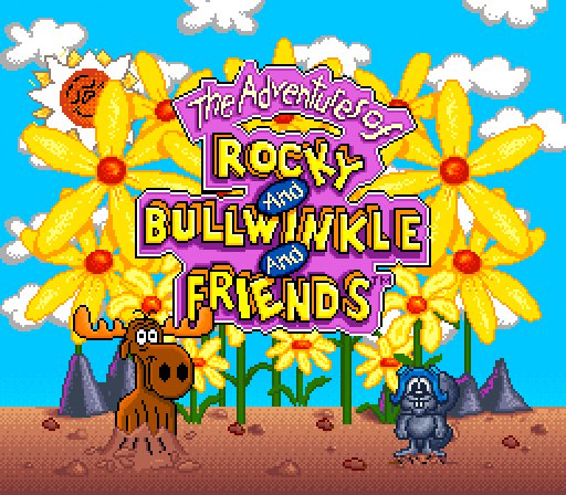 rockybullwinklefriends full1 60 Inspirational Title Graphics of 16/8 bit Games