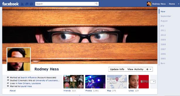 rodney1 40 Creative Examples of Facebook Timeline Designs
