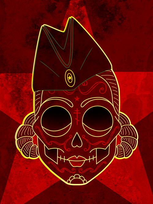 russian skull by someofthathomegrown1 90 Incredible Skulltastic Designs and Artworks