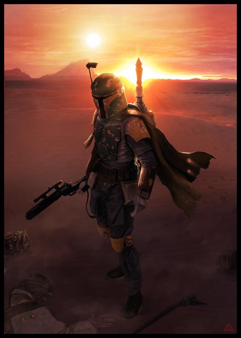 star wars boba fett by jamga1 60 Impressive Star Wars Illustrations and Artworks