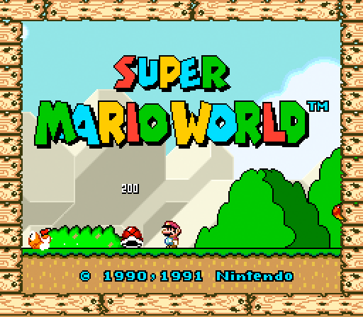 supermarioworld full1 60 Inspirational Title Graphics of 16/8 bit Games
