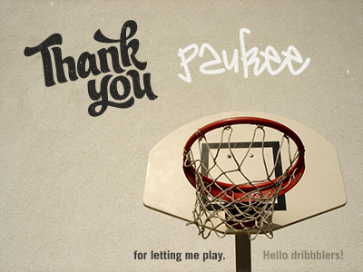 thankyou1 50 Graceful Invite Shots From Dribbble