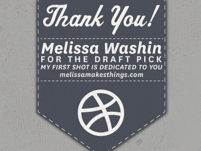 thankyoumelissa1 50 Graceful Invite Shots From Dribbble
