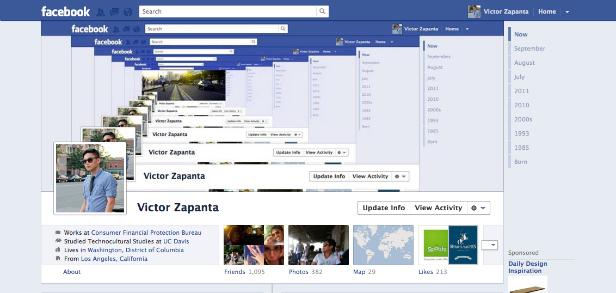 timeline1 40 Creative Examples of Facebook Timeline Designs