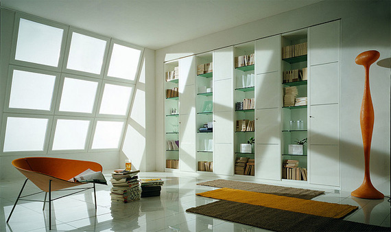 unusual and desirable bookshelves designs m40 wardrobe and bookcase1 50 Unique and Unconventional Bookcase Designs