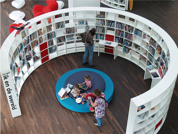 unusual and desirable bookshelves designs oba1 50 Unique and Unconventional Bookcase Designs