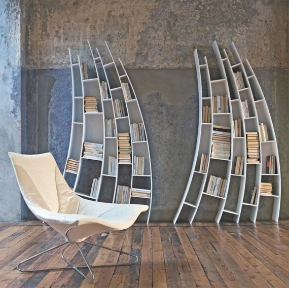 unusual and desirable bookshelves designs saba italia1 50 Unique and Unconventional Bookcase Designs
