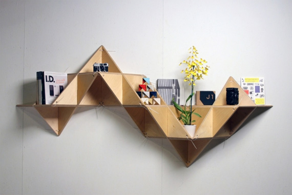 unusual and desirable bookshelves designs tshelf1 50 Unique and Unconventional Bookcase Designs