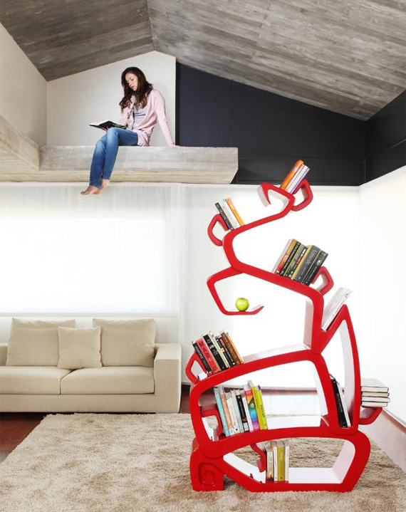 unusual and desirable bookshelves designs wisdomtree1 50 Unique and Unconventional Bookcase Designs