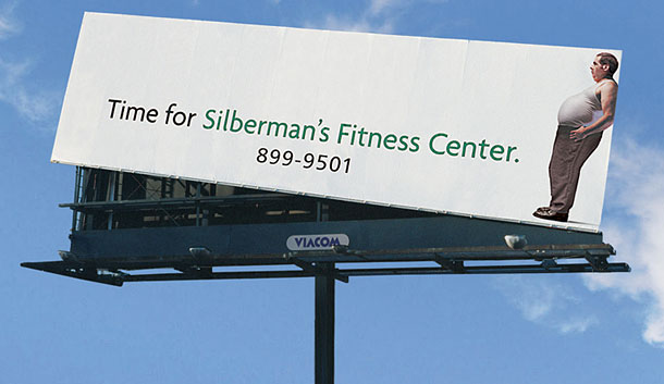 yoga fitness ads silbermans billboard1 35 Creative Fitness Ads To Encourage You