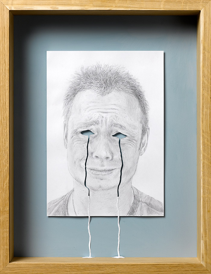15 crying my eyes out1 25 Striking Framed Papercuts by Peter Callesen