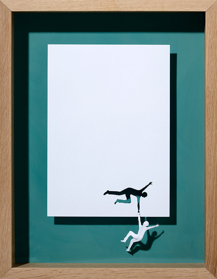 15 holding on to myself 11 25 Striking Framed Papercuts by Peter Callesen