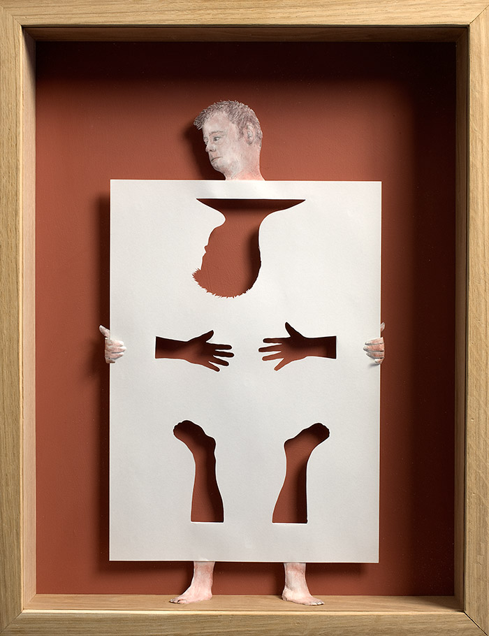 15 paperman 11 25 Striking Framed Papercuts by Peter Callesen