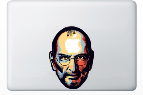 apple and steve jobs macbook decal 50+ Creative Macbook Pro Decals From Etsy