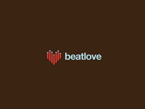 beatlove1 45 Cuore e Amore Logo Design