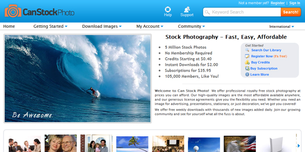 canctoskphoto Top 16 Commercial Stock Photography Websites