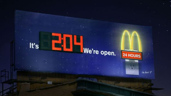 clock board2 night preview1 35 Creative McDonalds Corp Advertising Practices