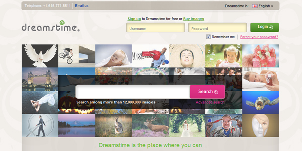 dreamstime Top 15 Commercial Stock Photography Websites