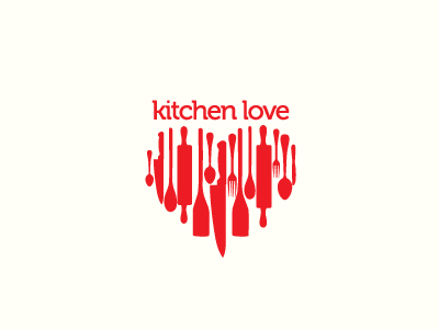 dribblkitchen1 45 Heart and Love Logo Designs