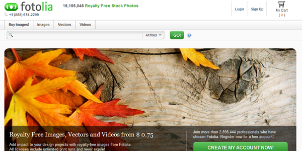 fotolia Top 15 Commercial Stock Photography Websites