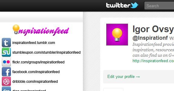 inspirationf twitter How to Improve Your Twitter Profile Page Rank