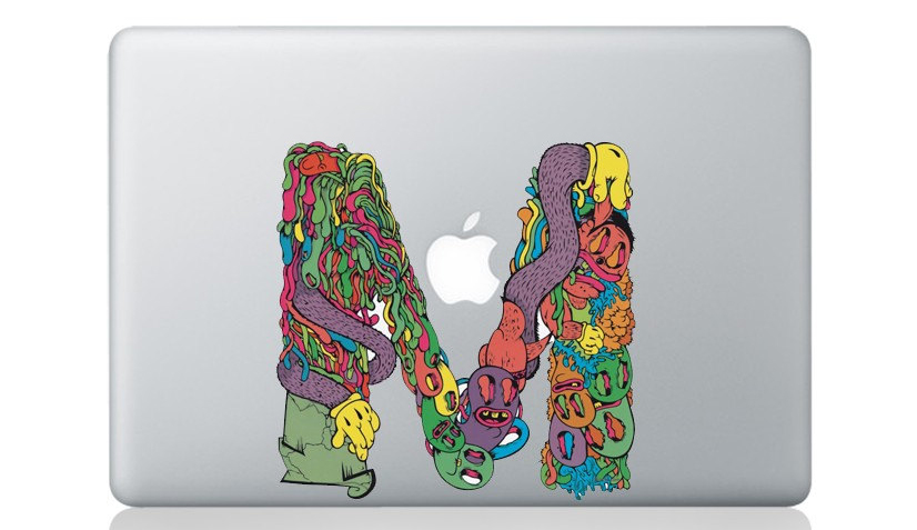 letter m 50+ Creative Macbook Pro Decals From Etsy