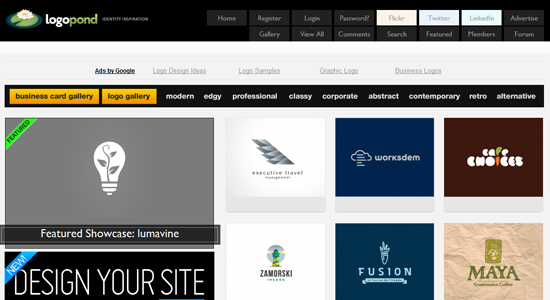 logopond 20 Fabulous Websites for Logo Design Inspiration